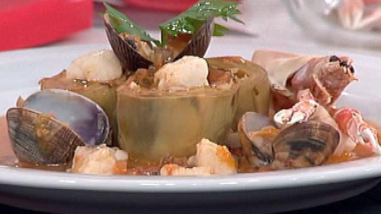 Receta de alcachofas a la marinera for Cocinar alcachofas