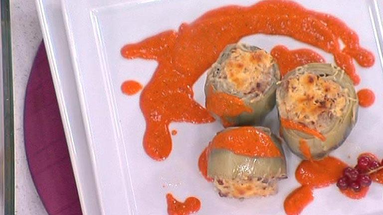 Alcachofas rellenas de ternera en salsa 05 01 12 for Cocinar alcachofas