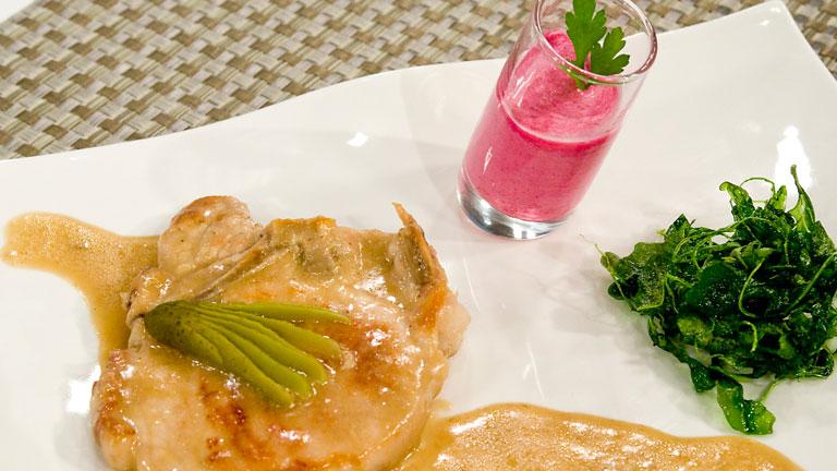 C mo preparar chuletas en salsa alemana con crema de remolacha for Cocinar remolacha