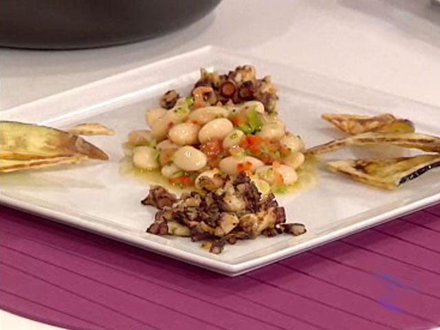 Saber cocinar ensalada de judiones con pulpo for Cocinar pulpo