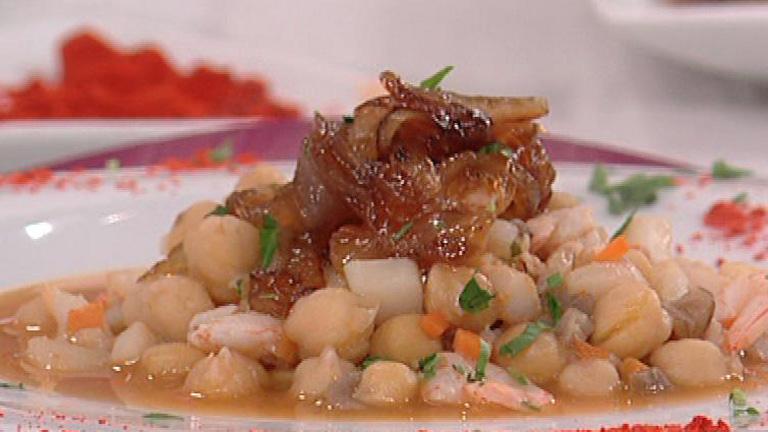 Saber cocinar garbanzos con setas y sepia 09 03 2012 for Cocinar garbanzos
