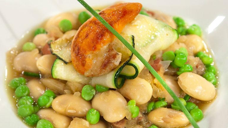 C mo preparar judiones en salsa verde con ravioli de vieiras for Cocinar vieiras