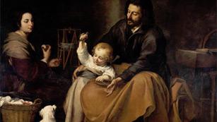 Mirar un cuadro - La Sagrada Familia del pajarito (Murillo)