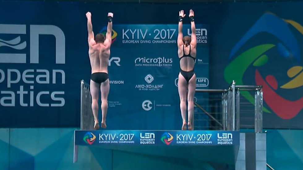 Natación - Saltos `Campeonato de Europa'. Final 10 MT Sincro Mixto desde Kiev (Ucrania)