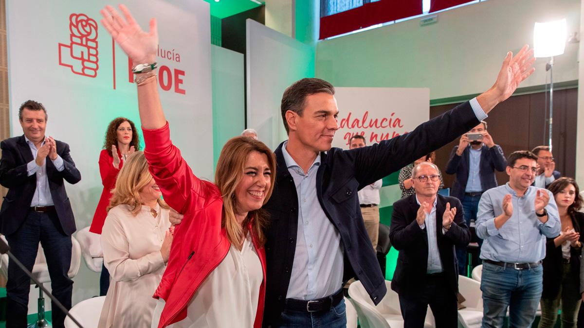 Sánchez ha arropado a Susana Díaz en el acto de proclamación como candidata a la Junta de Andalucía