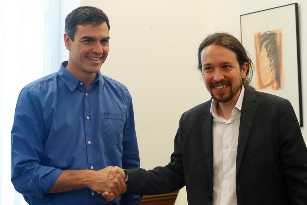 """Sánchez e Iglesias crearán equipos de trabajo para abordar una """"política alternativa"""" al PP"""