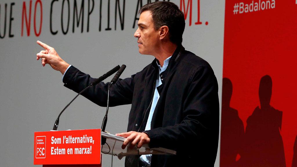 """Sánchez: """"El PSOE va a obligar a Rajoy a buscar una solución pactada para Cataluña"""""""