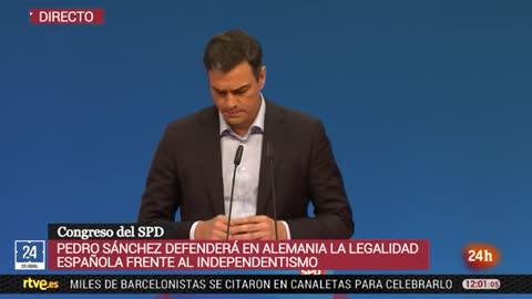 """Sánchez: """"El reto secesionista en Cataluña también es una amenaza para el proyecto europeo"""""""