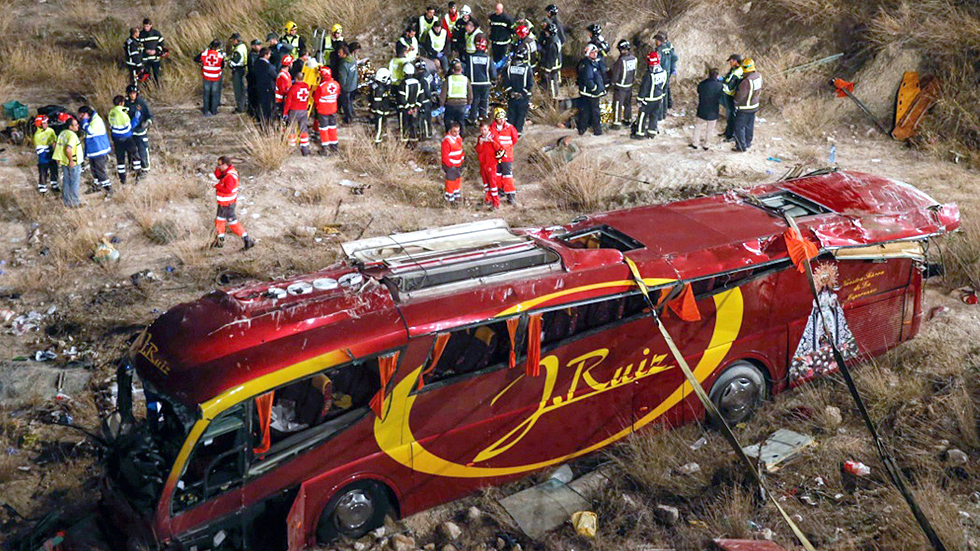 Se investiga el accidente de autobús ocurrido ayer en Murcia
