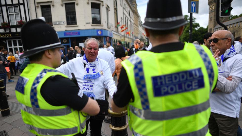 La seguridad en Cardiff se extrema por aire y tierra