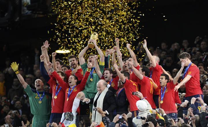 España gana el Mundial de FÚtbol 2010