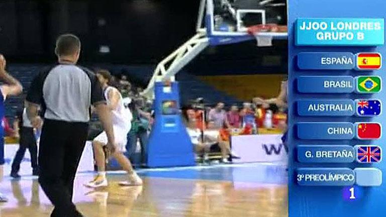 La selección española de baloncesto ya tiene rivales para los JJOO