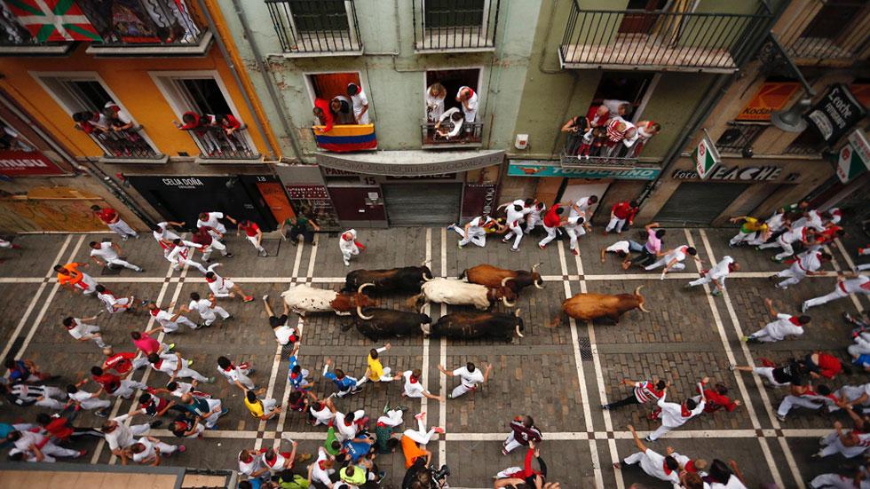 Séptimo encierro de San Fermín muy rápido y con ocho heridos