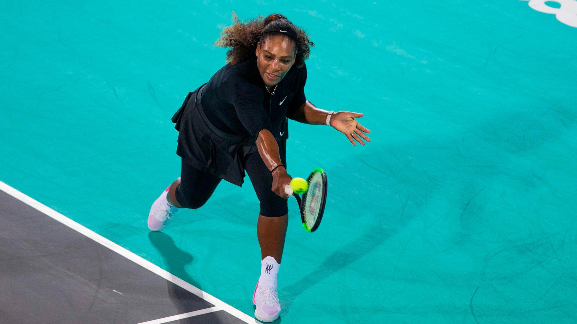 Serena Williams regresa con derrota ante Ostapenko en la exhibición de Abu Dabi