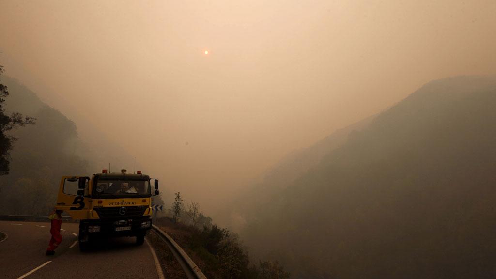 Los siete incendios que quedan en Asturias están ya controlados