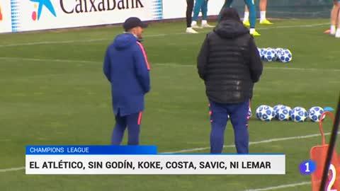 Simeone afronta el duelo ante el Borussia sin Costa, Koke, Godín, Savic ni Lemar