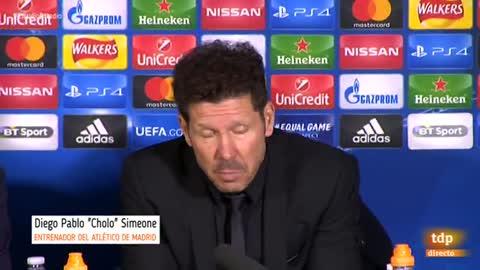 """Simeone: """"El fútbol es la contundencia y está claro que no la hemos tenido en esta Champions"""""""