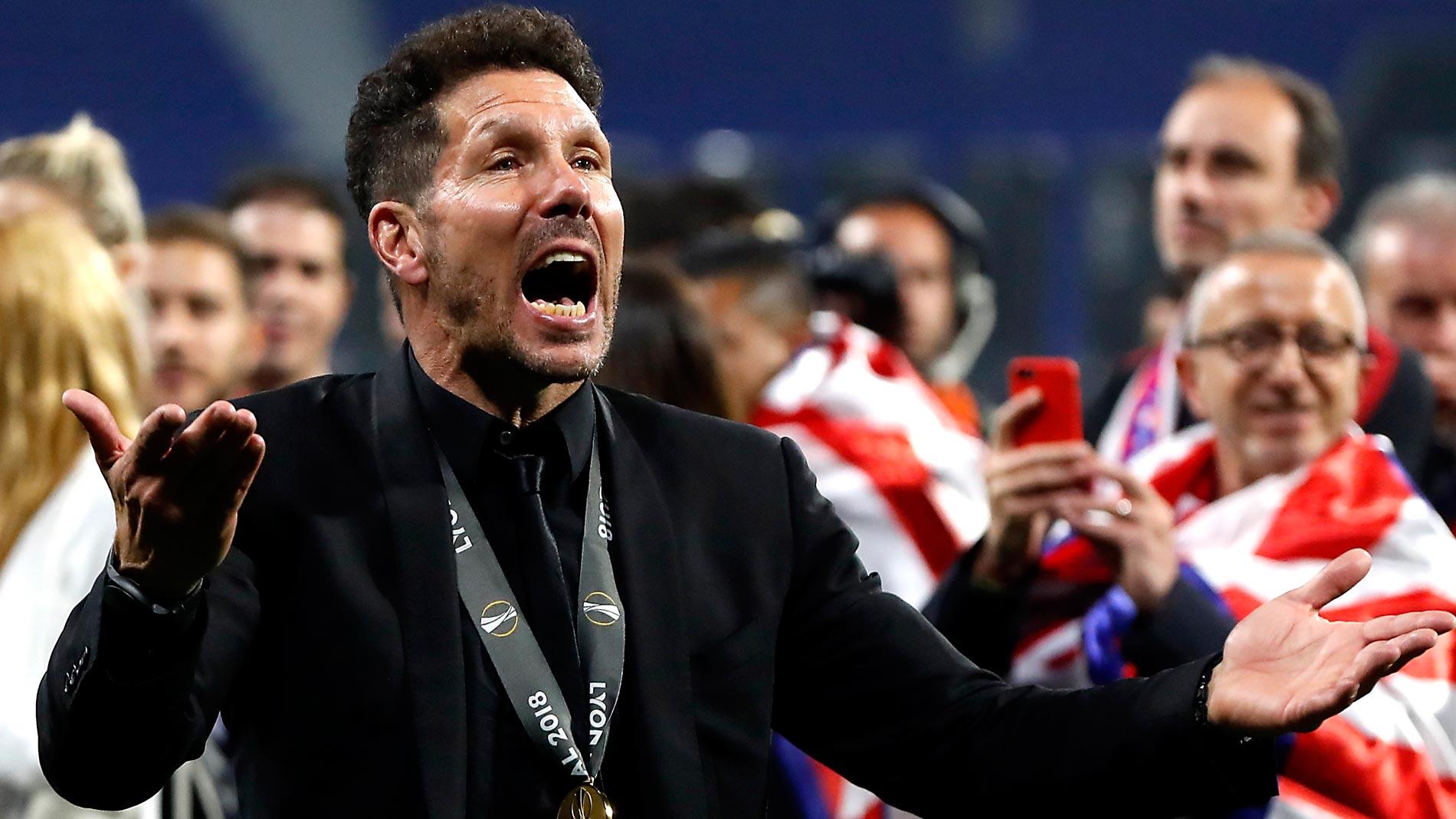 """Simeone, sobre Griezmann: """"No tengo duda que todavía se puede quedar con nosotros"""""""