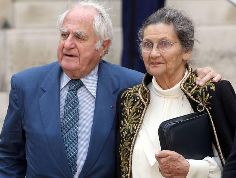 Simone Veil junto a su marido Antoine en una imagen de archivo de 2011.