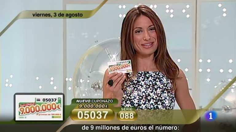 Sorteo ONCE - 03/08/12