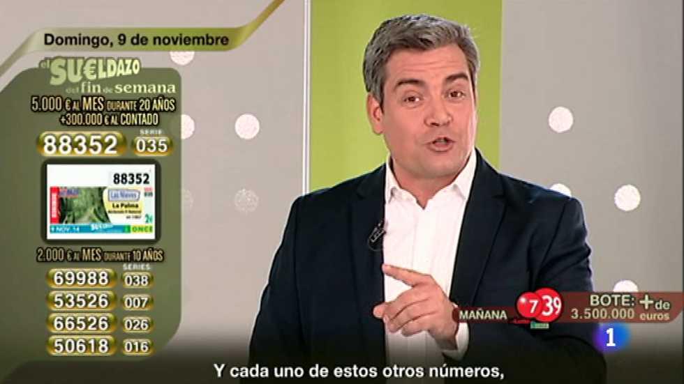 Sorteo ONCE - 09/11/14