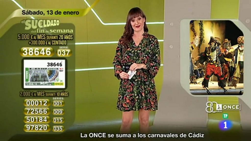 Sorteo ONCE - 13/01/18
