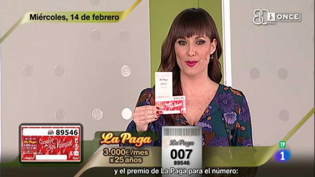 Sorteo ONCE - 14/02/18