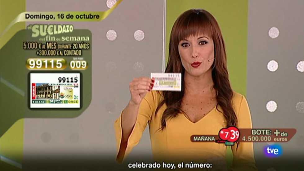 Sorteo ONCE - 16/10/16
