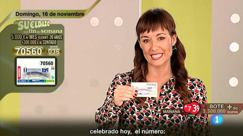 Sorteo ONCE - 16/11/14