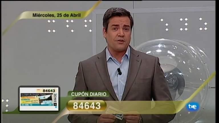 Sorteo ONCE - 25/04/12