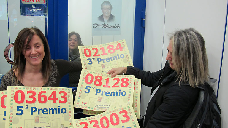 La suerte nunca abandona Doña Manolita
