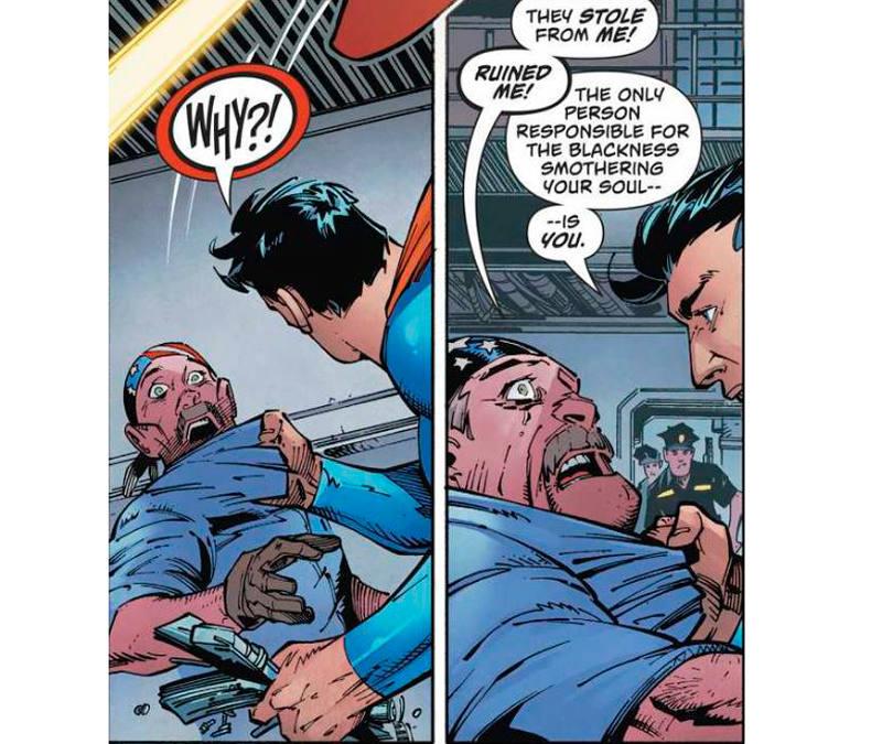 Superman enfrentándose a los supremacistas blancos