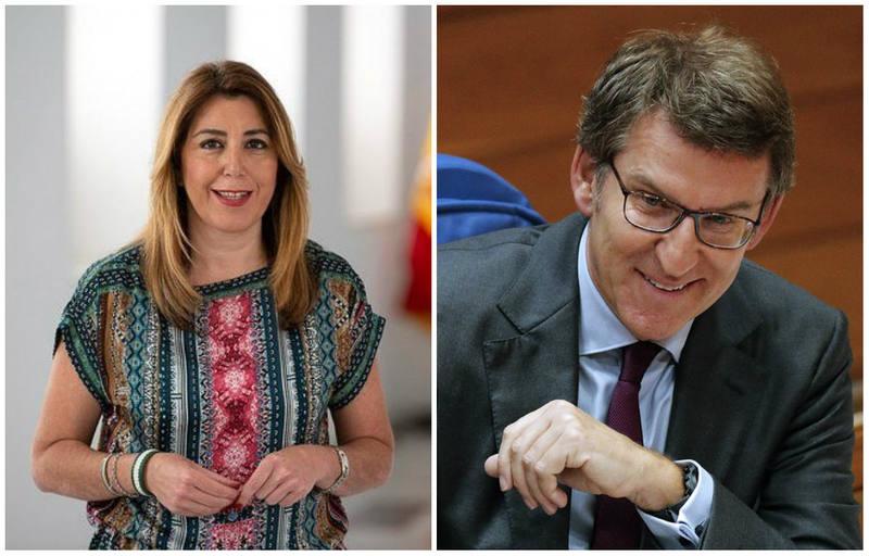 Susana Díaz y Alberto Núñez Feijóo