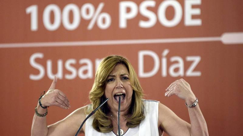 Susana Díaz, candidata a la Secretaría General del PSOE.