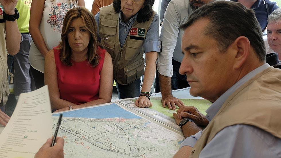 """Susana Díaz no descarta que el incendio se deba al """"factor humano"""""""