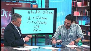 La Aventura del Saber. TVE. Taller de matemáticas. Santi García Cremades. Las potencias