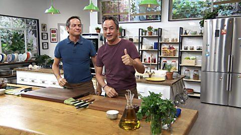 Torres en la cocina - Tartar de remolacha y bacalao en salsa verde