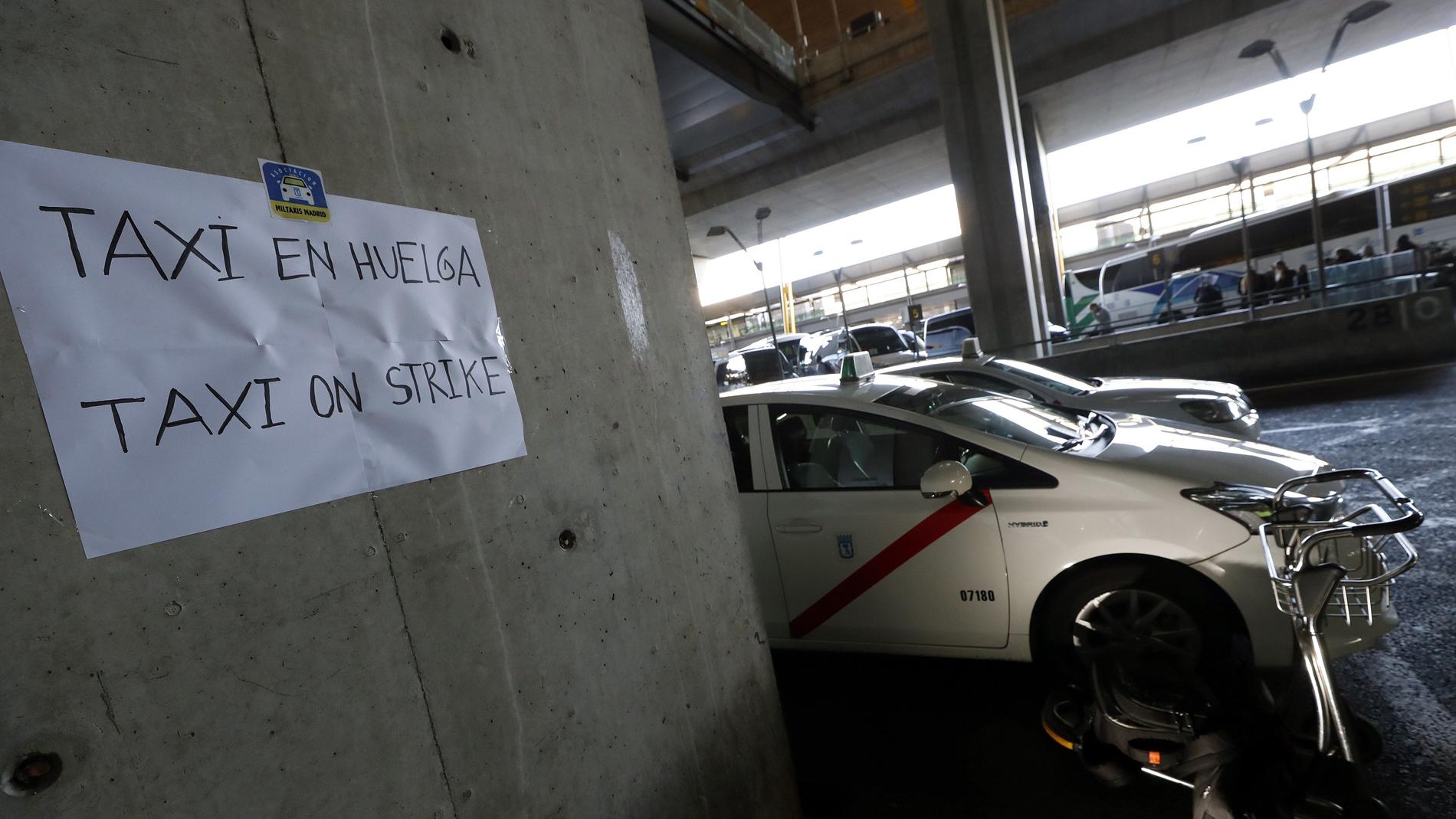 Los taxistas de Madrid y Barcelona siguen con sus reivindicaciones