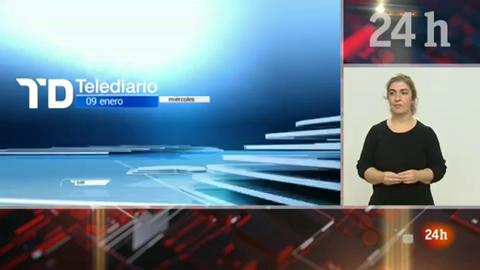 Telediario - 21 horas - 09/01/19 - Lengua de signos
