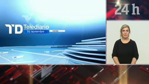 Telediario - 21 horas - 16/11/18 - Lengua de signos