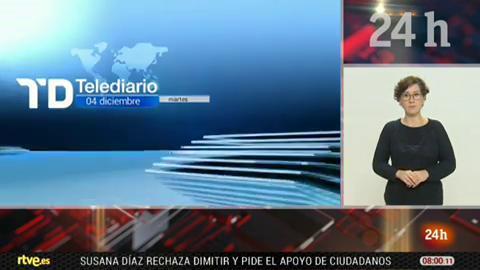 Telediario - 8 horas - 04/12/18 - Lengua de signos