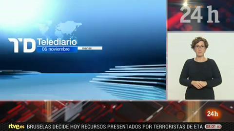 Telediario - 8 horas - 06/11/18 - Lengua de signos