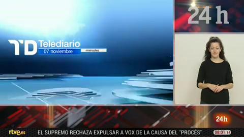 Telediario - 8 horas - 07/11/18 - Lengua de signos