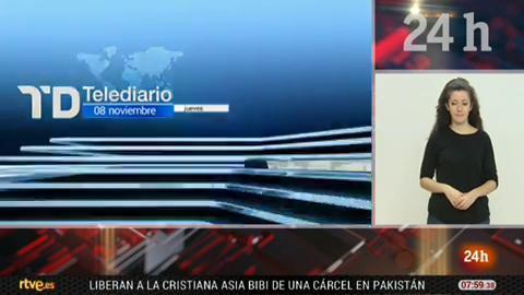 Telediario - 8 horas - 08/11/18 - Lengua de signos