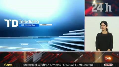 Telediario - 8 horas - 09/11/18 - Lengua de signos