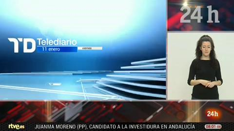 Telediario - 8 horas - 11/01/19 - Lengua de signos