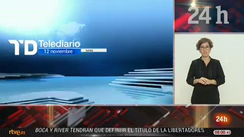 Telediario - 8 horas - 12/11/18 - Lengua de signos