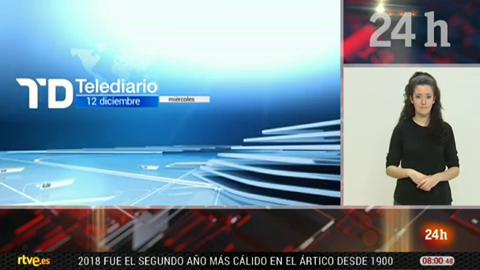 Telediario - 8 horas - 12/12/18 - Lengua de signos
