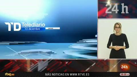 Telediario - 8 horas - 13/12/18 - Lengua de signos