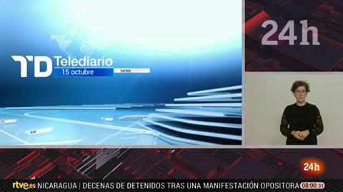 Telediario - 8 horas - 15/10/18 - Lengua de signos